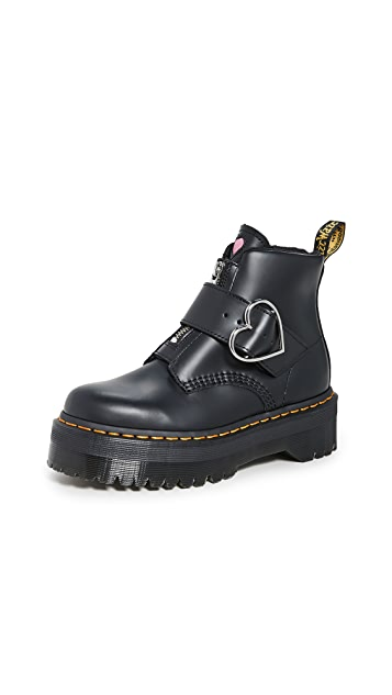 Dr. Martens X Lazy Oaf Heart Buckle Boots