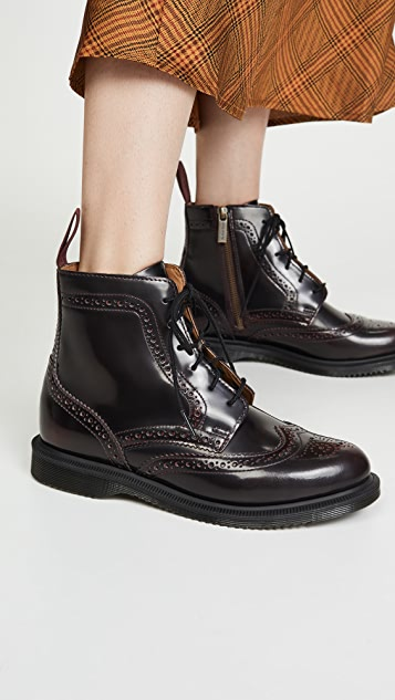 Dr. Martens Delphine 6 Eye Brogue Boots