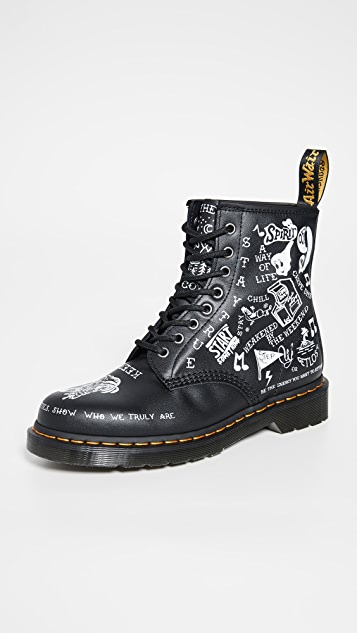 Dr. Martens 1460 Scribble 8 Eye Boots