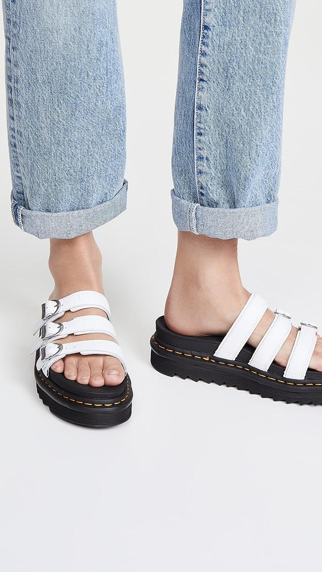 white doc martin sandals