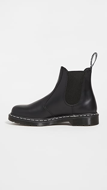 Dr. Martens 2976 White Stitch Chelsea Boots