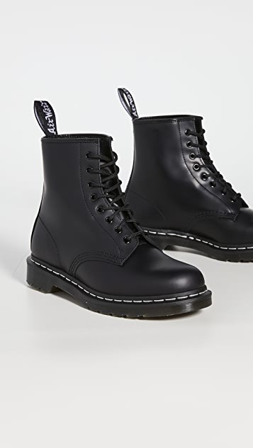 Dr. Martens 1460 8-Eye White Stitch Boots