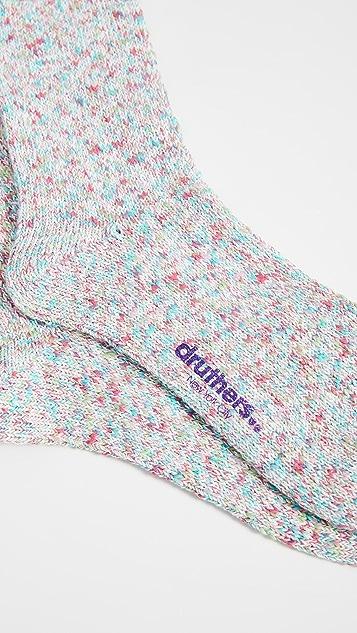 Druthers Tie Dye Melange Crew Socks