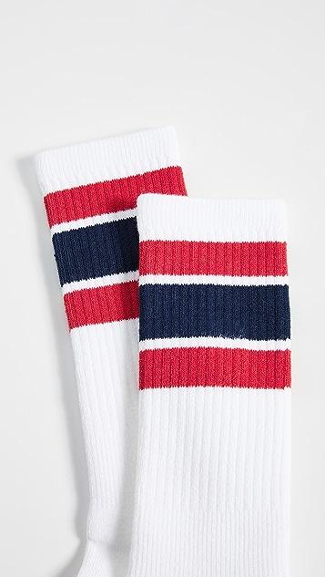Druthers Wide Stripe Crew Socks