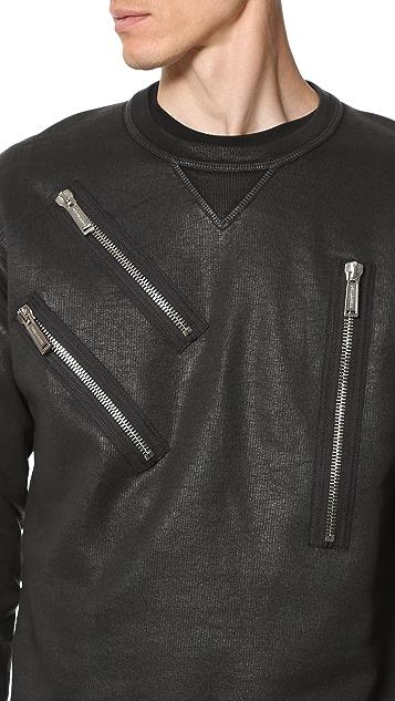 DSQUARED2 Warm Leatherette Wash Sweatshirt