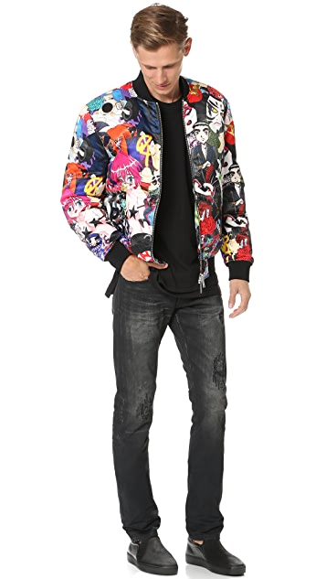 DSQUARED2 Allover Manga Puff Bomber