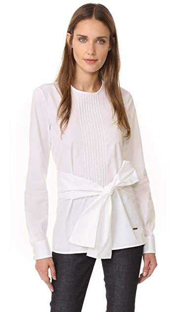 DSQUARED2 Pleated Poplin Top
