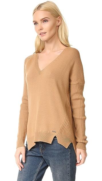 DSQUARED2 V Neck Ribbed Sweater