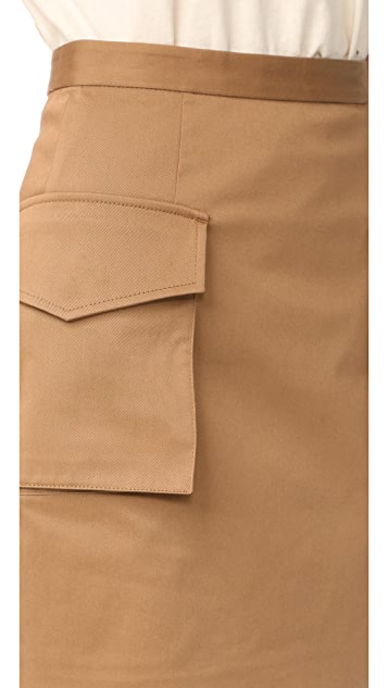 DSQUARED2 Military Miniskirt