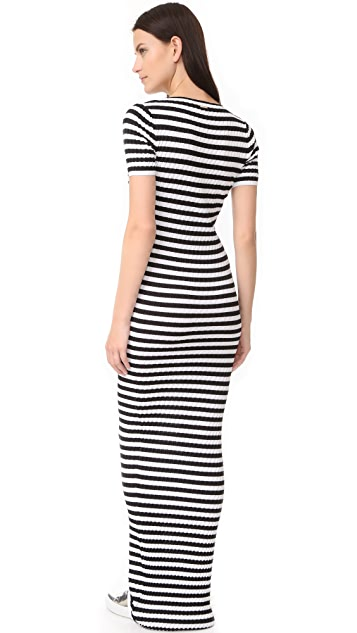 DSQUARED2 Striped Maxi Dress
