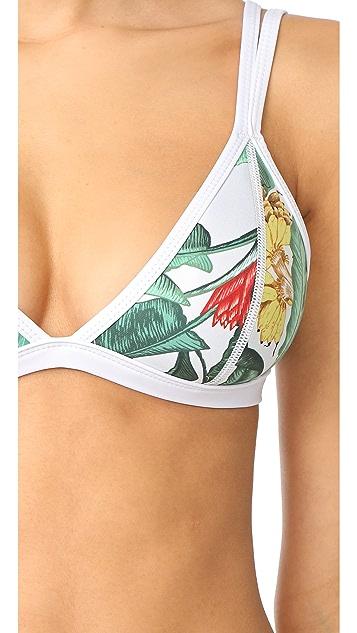 Duskii Oasis Fixed Tri Bikini Top