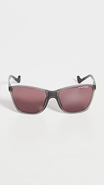 District Vision District Black Rose Standard Running Sunglasses