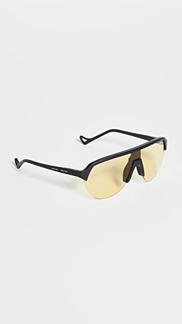 District Vision District Sports Yellow Speed Blade Sunglasses