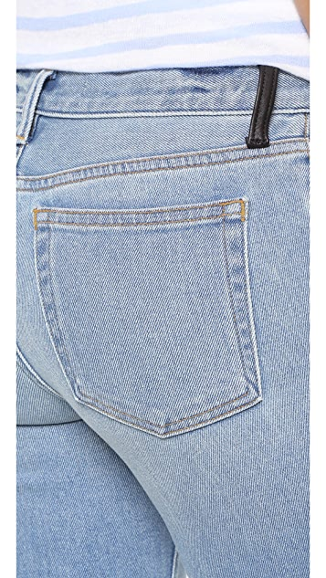 Denim x  Alexander Wang Trap Flex Cropped Stretch Boot Cut Jeans