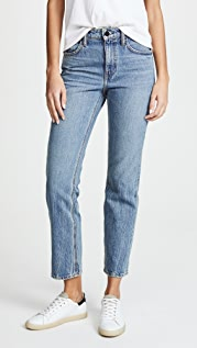 Denim x  Alexander Wang Cult Cropped Straight Leg Jeans