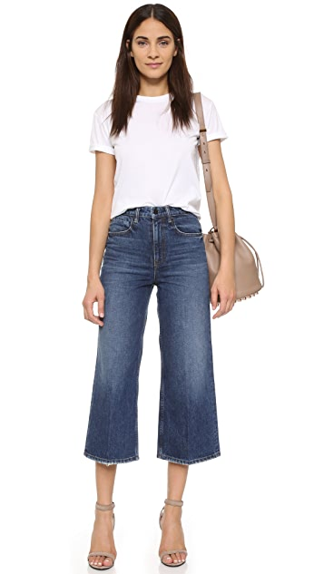 Denim x  Alexander Wang Drill High Rise Wide Leg Jeans