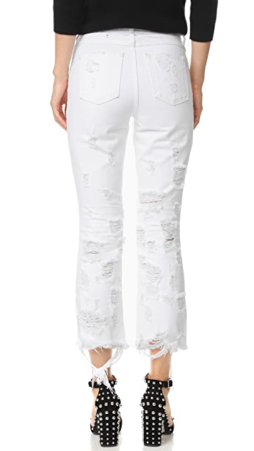 Denim x  Alexander Wang Grind White Scratch Jeans