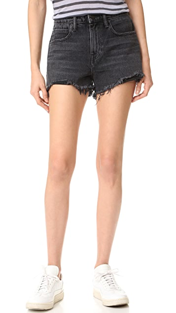 Denim x  Alexander Wang Bite Grey Aged Shorts
