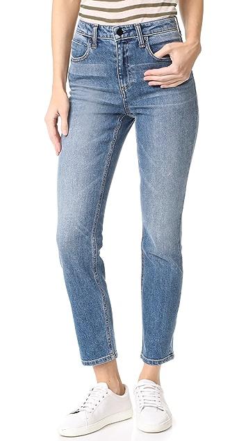 Denim x Alexander Wang Прямые джинсы с высокой талией