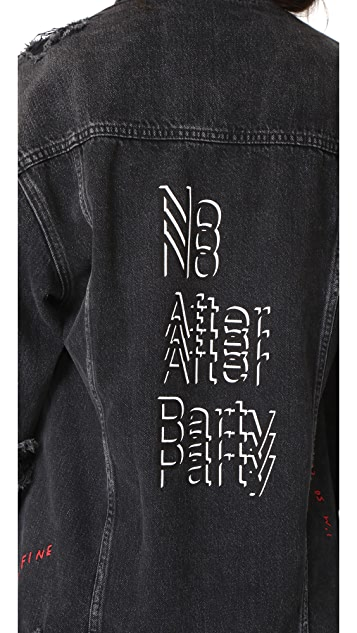Denim x  Alexander Wang Daze No After Party Jacket
