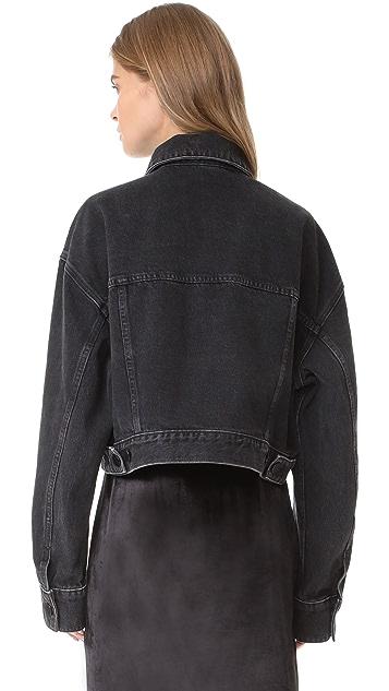 Denim x  Alexander Wang Cropped Oversized Jacket
