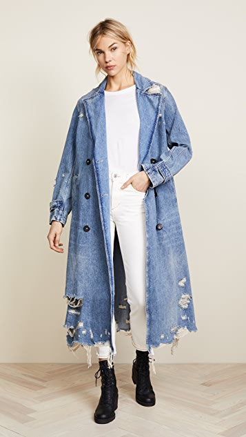 5ab94b0e173 ... Denim x Alexander Wang Trench Coat ...