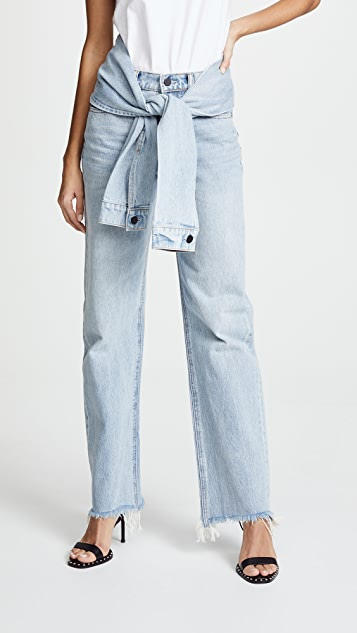 Denim x  Alexander Wang Stack Tie Jeans