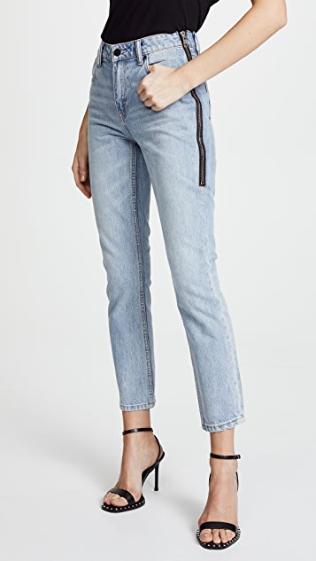 Denim x  Alexander Wang Cult Side Zip Jeans