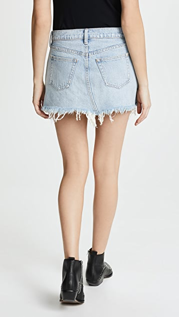 Denim x  Alexander Wang 5 Pocket Zip Skirt