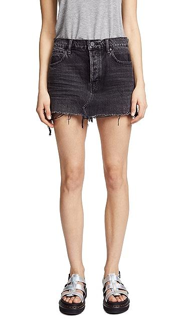 Denim x  Alexander Wang 5 Pocket Zip Skirt