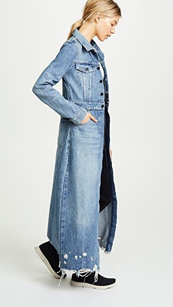 Denim x  Alexander Wang Fitted Trench Coat