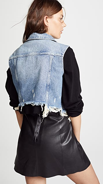 Denim x  Alexander Wang Cropped Vest