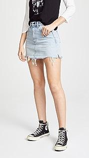 Denim x  Alexander Wang Bite Skirt