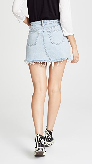 Denim x  Alexander Wang Bite Skirt