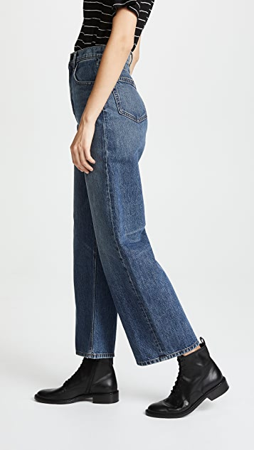 Denim x  Alexander Wang Crush Wide Leg Jeans