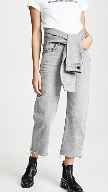 Denim x  Alexander Wang Stack Crop Tie Jeans