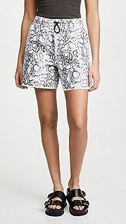 Denim x  Alexander Wang Printed Jogger Shorts
