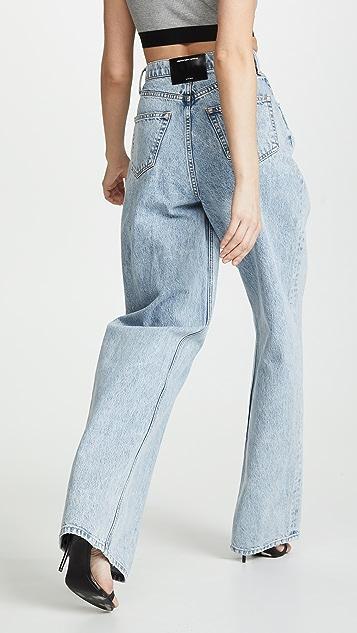 Denim x  Alexander Wang Brace Pleated Jeans