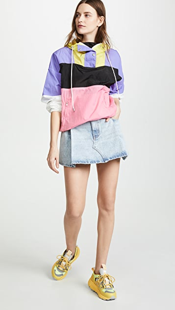 Denim x  Alexander Wang Pleated Miniskirt