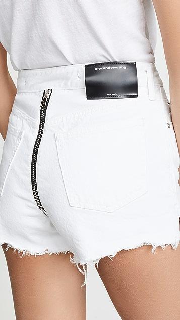 Denim x  Alexander Wang Bite Zip Shorts