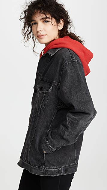 Denim x Alexander Wang Daze 超大牛仔夹克