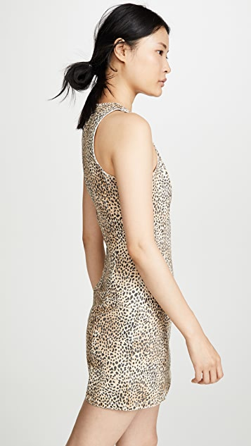 Denim x  Alexander Wang Micro Cheetah Sheath Dress