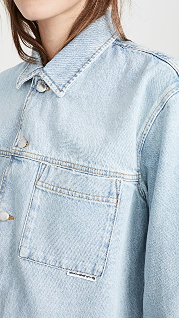 Denim x  Alexander Wang Pajama Shirt