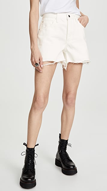 Denim x  Alexander Wang Float Zip Shorts