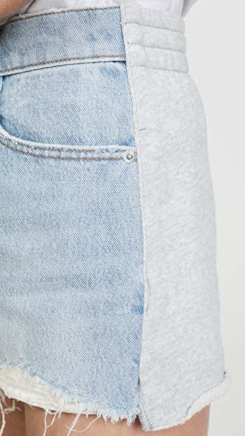Denim x  Alexander Wang Bite Clash Shorts