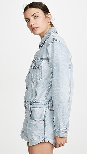 Denim x  Alexander Wang 短裤连身衣