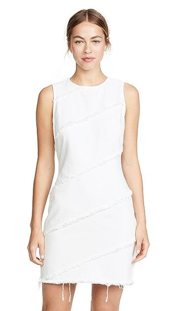 Denim x Alexander Wang Платье с диагональными швами