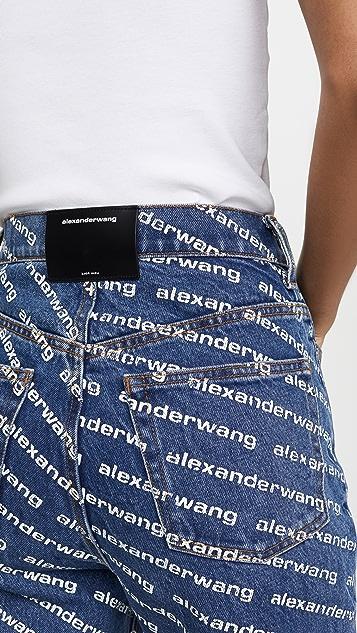Denim x  Alexander Wang Logo Bluff Jeans