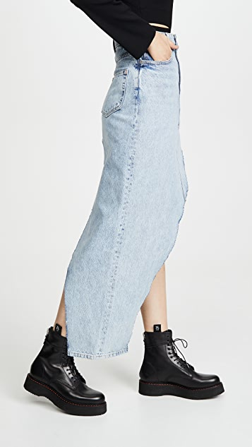 Denim x  Alexander Wang Asymmetrical Skirt