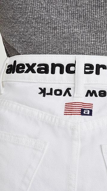 Denim x  Alexander Wang Runway Bite Flip 短裤